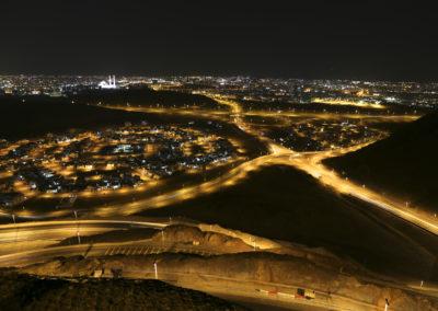 Blick von Highway auf Muscat